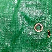 Green poly Tarp Eyelet detail